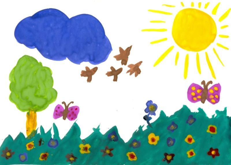 Какво показва начинът на рисуване при децата